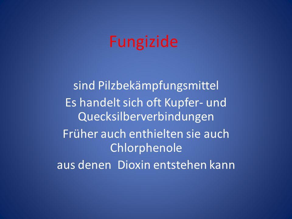 Fungizide sind Pilzbekämpfungsmittel