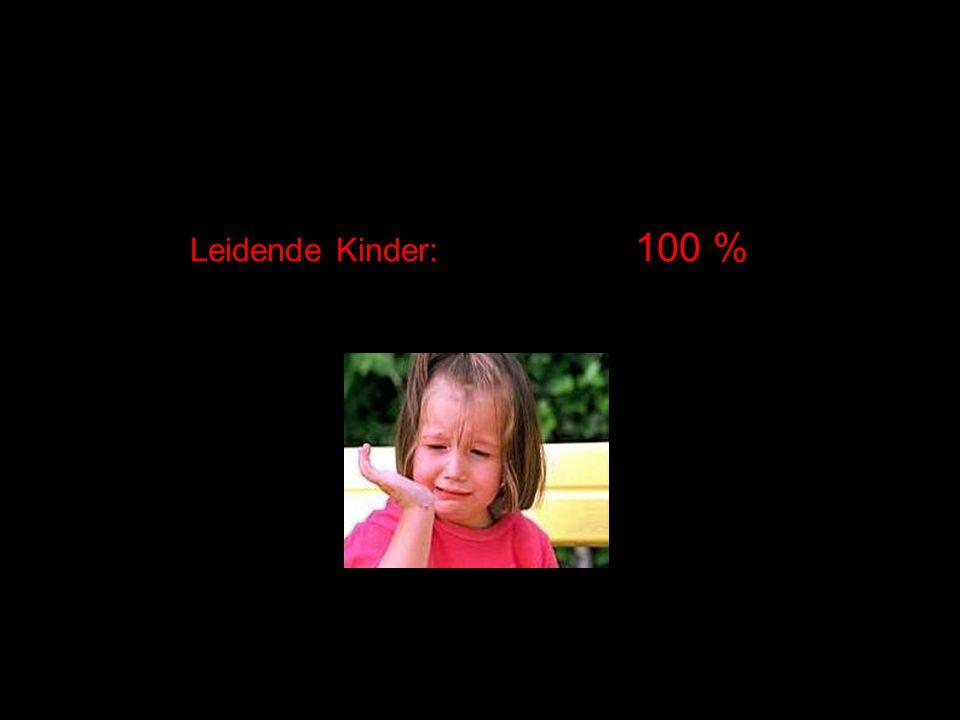 Leidende Kinder: 100 %