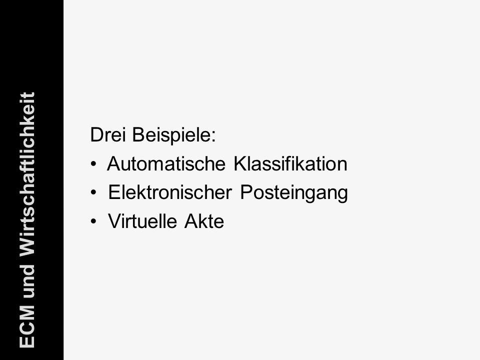 Automatische Klassifikation Elektronischer Posteingang Virtuelle Akte