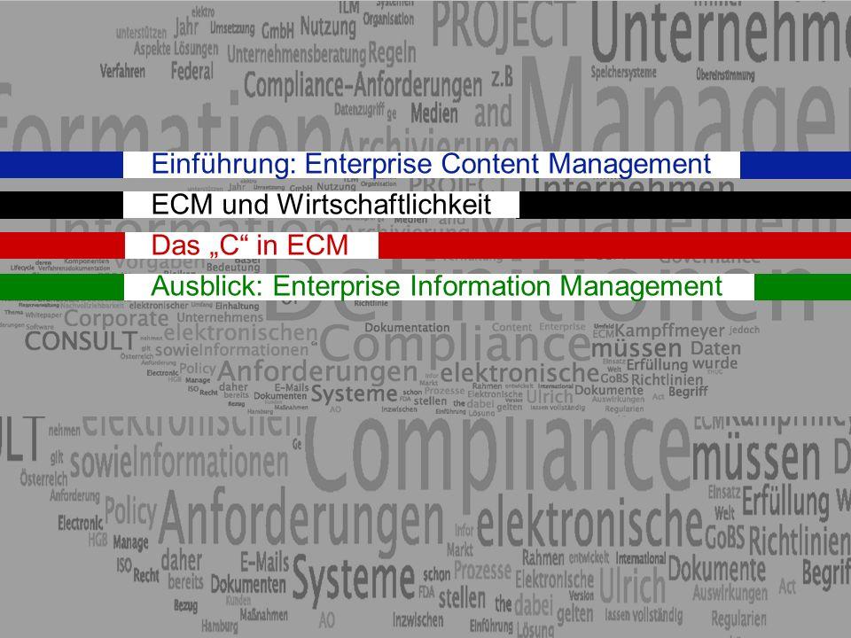 Einführung: Enterprise Content Management ECM und Wirtschaftlichkeit