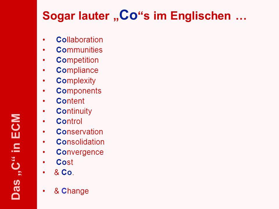 """Sogar lauter """"Co s im Englischen …"""