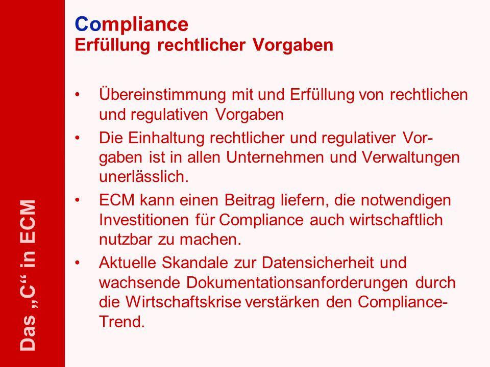 Compliance Erfüllung rechtlicher Vorgaben