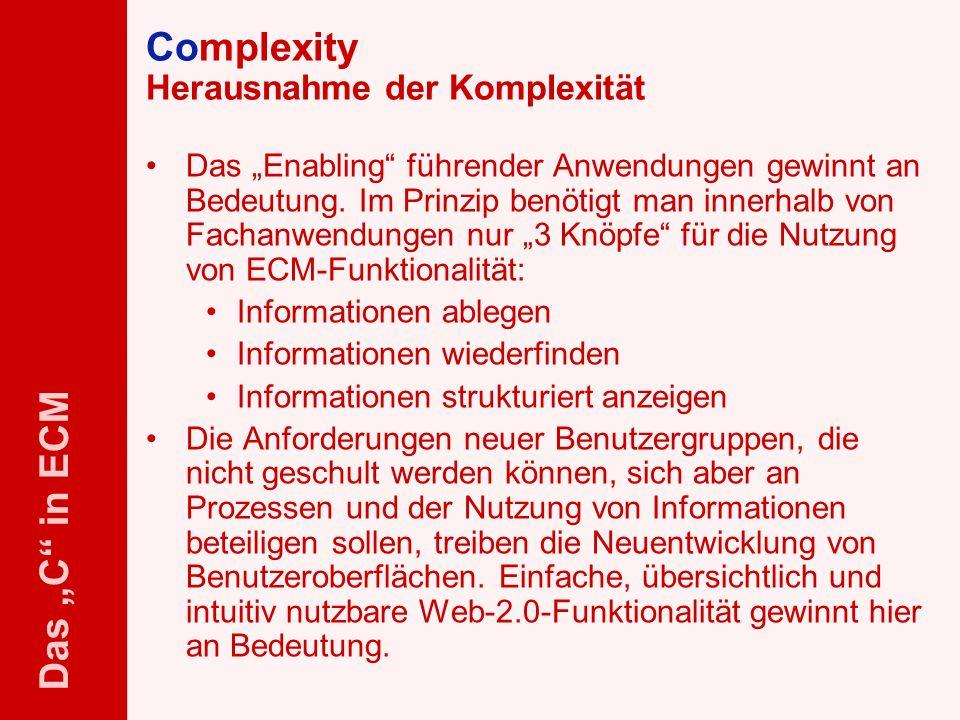 Complexity Herausnahme der Komplexität
