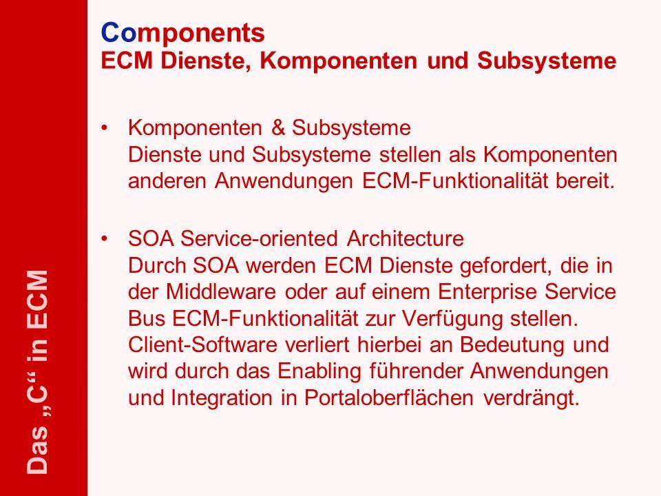 Components ECM Dienste, Komponenten und Subsysteme