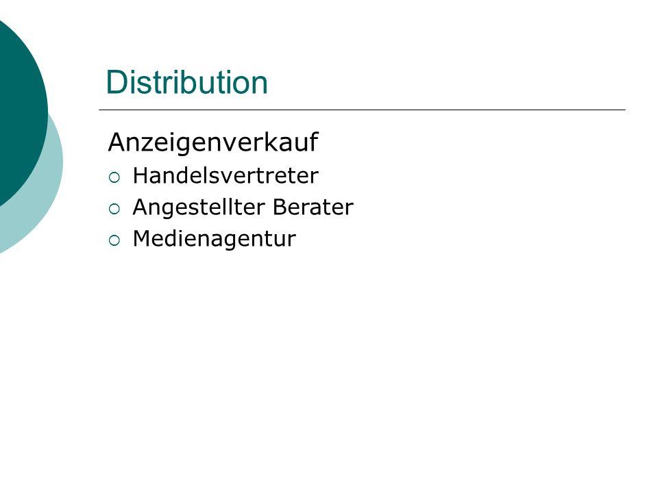 Distribution Anzeigenverkauf Handelsvertreter Angestellter Berater