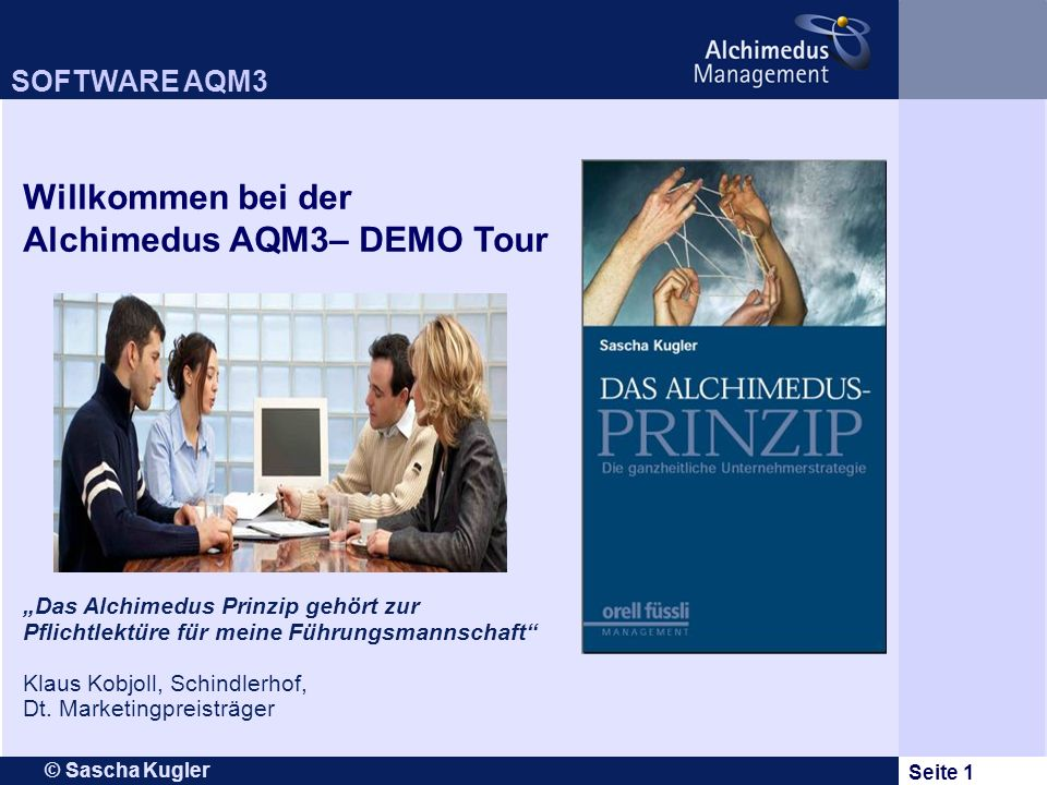 Alchimedus AQM3– DEMO Tour