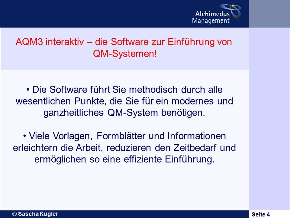 AQM3 interaktiv – die Software zur Einführung von QM-Systemen!