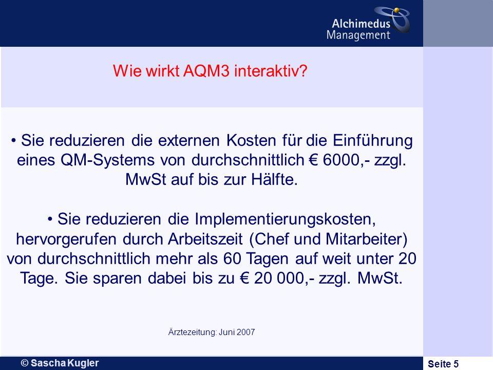 Wie wirkt AQM3 interaktiv