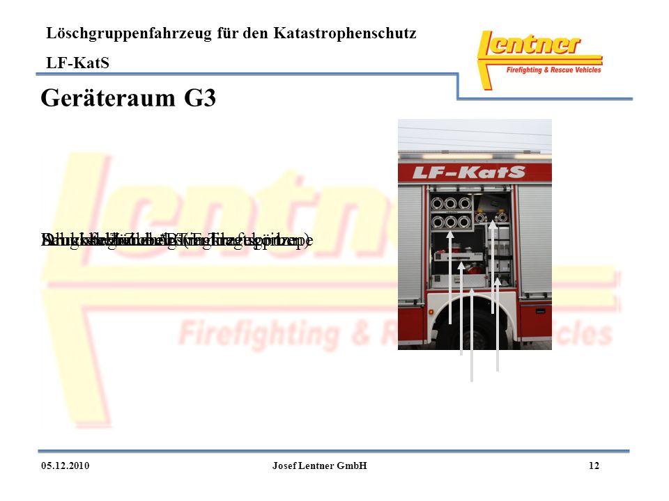 Geräteraum G3 Saugschläuche A Alukiste Zubehör Tragkraftspritze