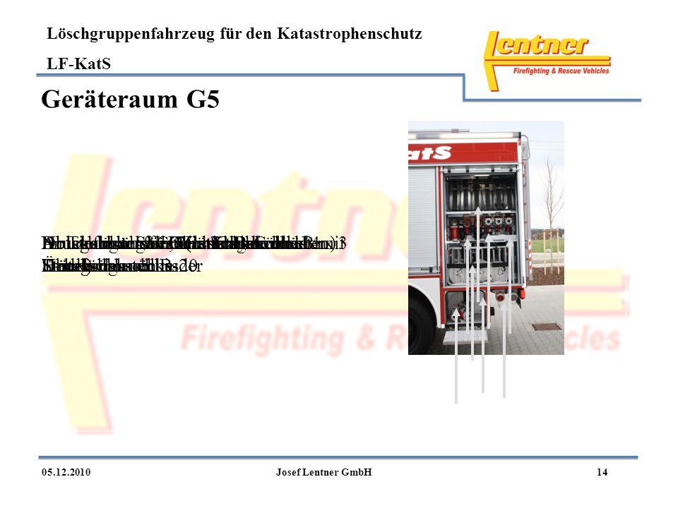 Geräteraum G5 Im Tiefraum: Verteiler C-B-C und Druckschlauch B-20