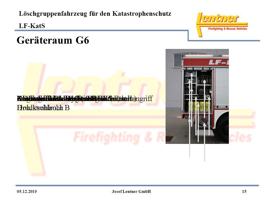 Geräteraum G6 Abgang für Wasser B und für Schnellangriff