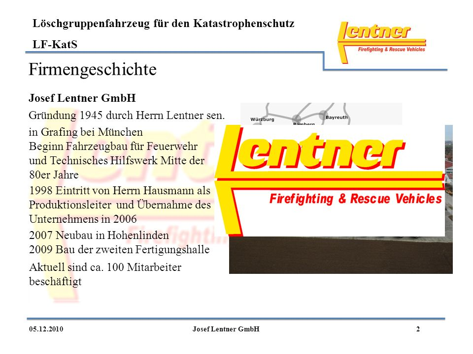 Firmengeschichte Josef Lentner GmbH