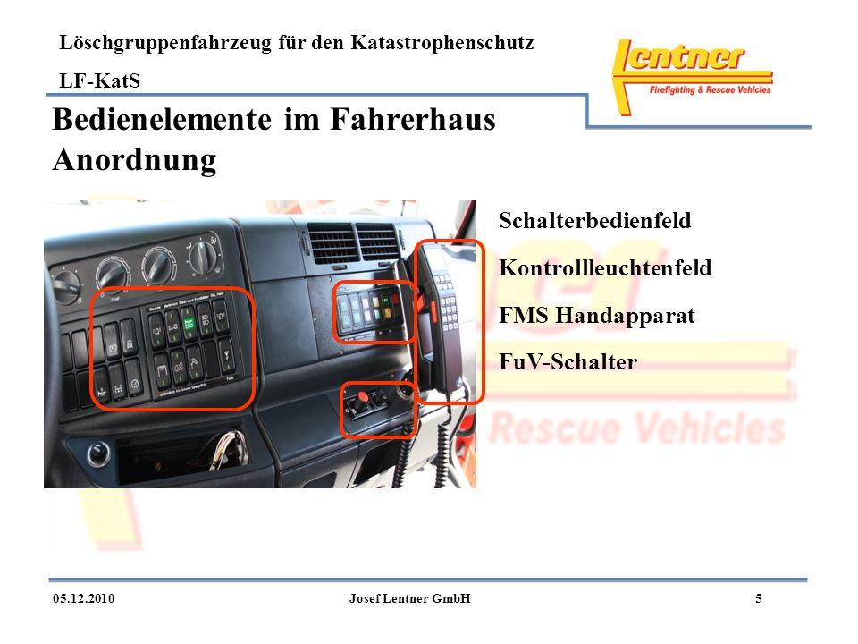Bedienelemente im Fahrerhaus Anordnung