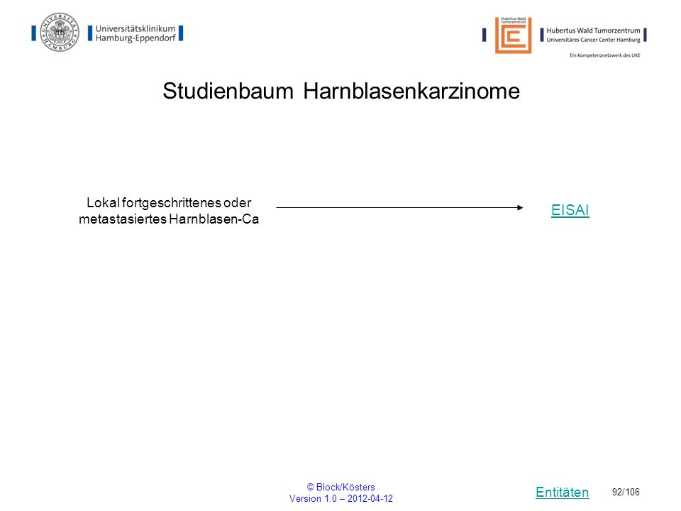 Studienbaum Harnblasenkarzinome
