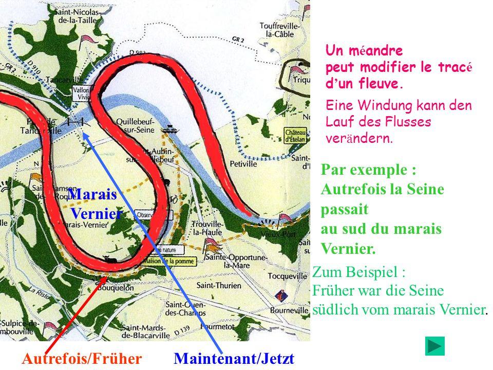 Autrefois la Seine passait au sud du marais Vernier. Marais Vernier
