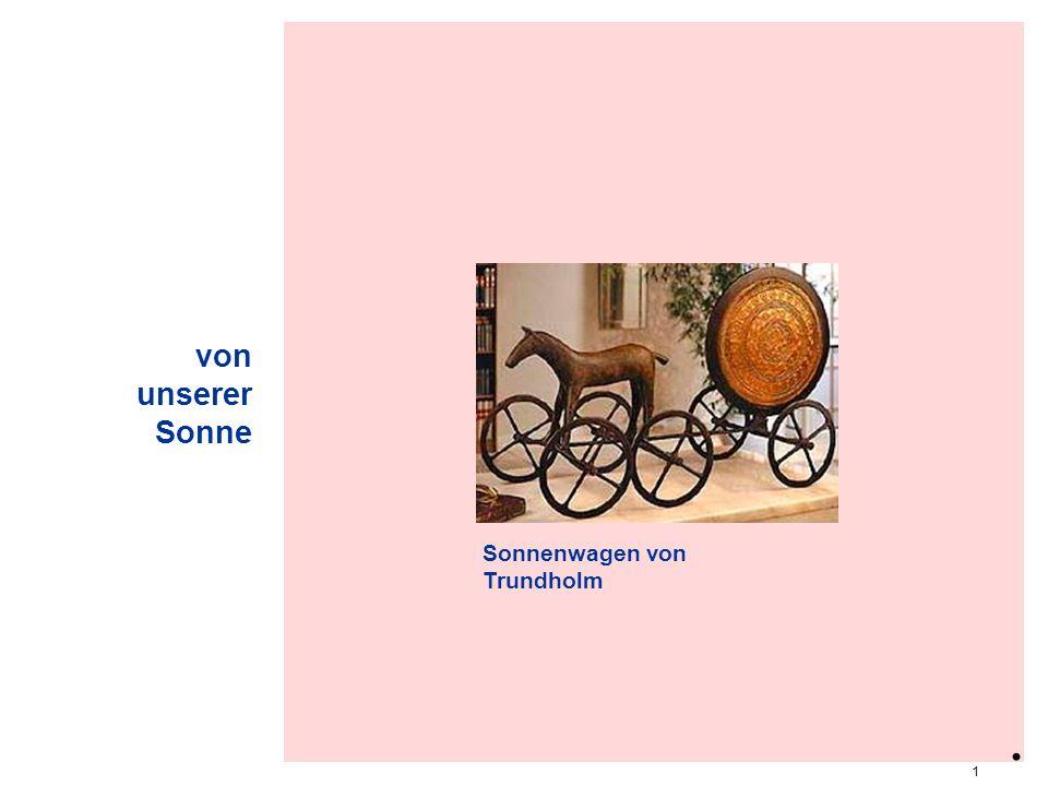. start von unserer Sonne Sonnenwagen von Trundholm