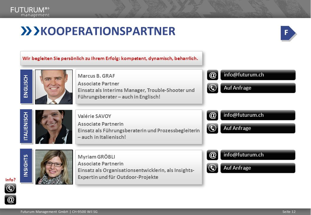 KOOPERATIONSPARTNER F Marcus B. GRAF info@futurum.ch
