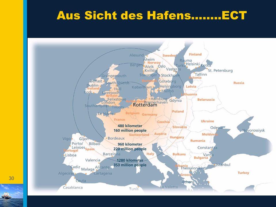 Aus Sicht des Hafens……..ECT