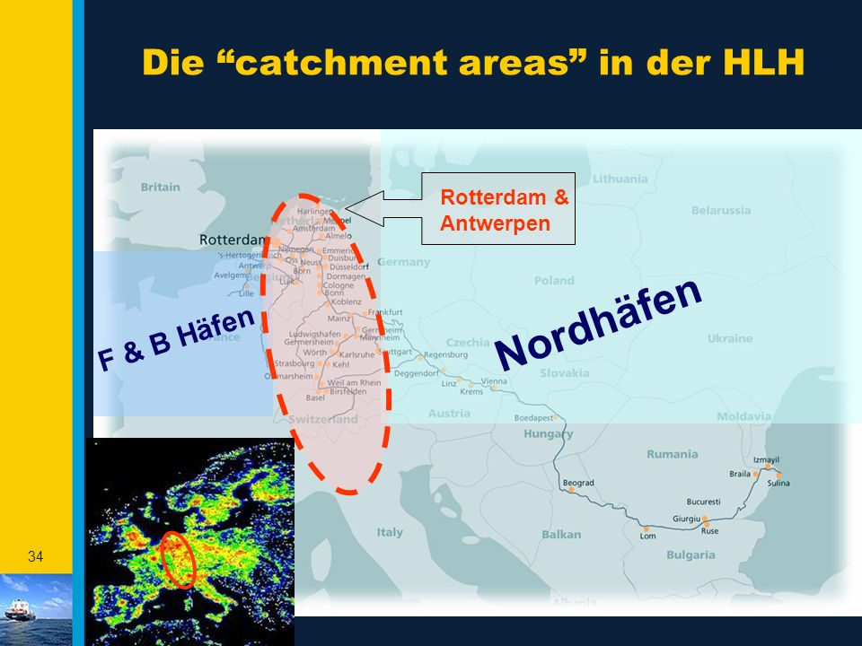 Die catchment areas in der HLH