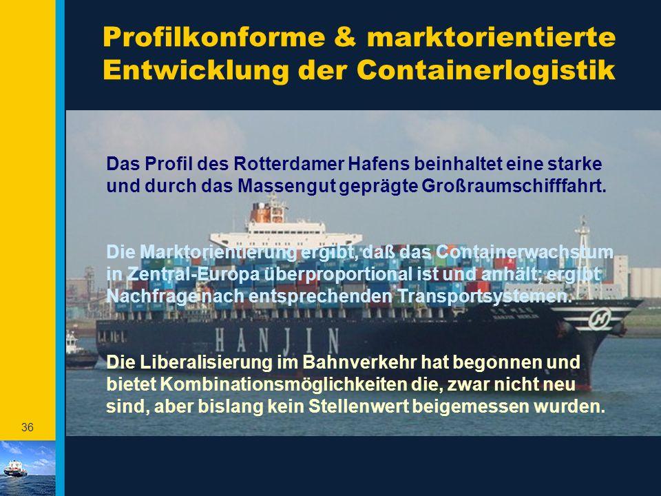 Profilkonforme & marktorientierte Entwicklung der Containerlogistik