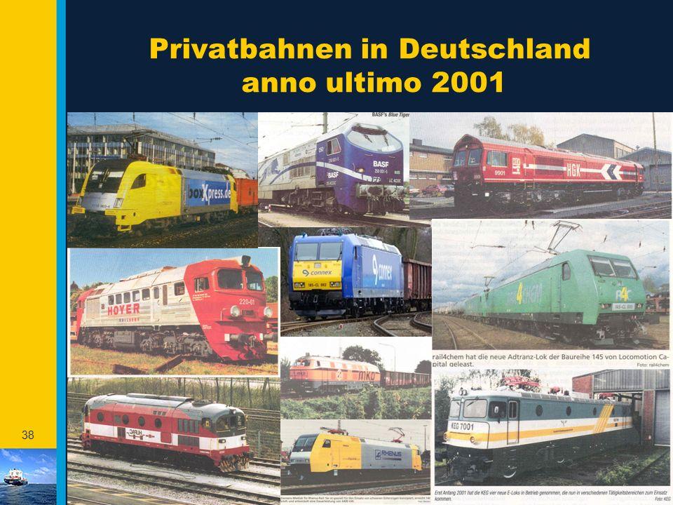 Privatbahnen in Deutschland anno ultimo 2001