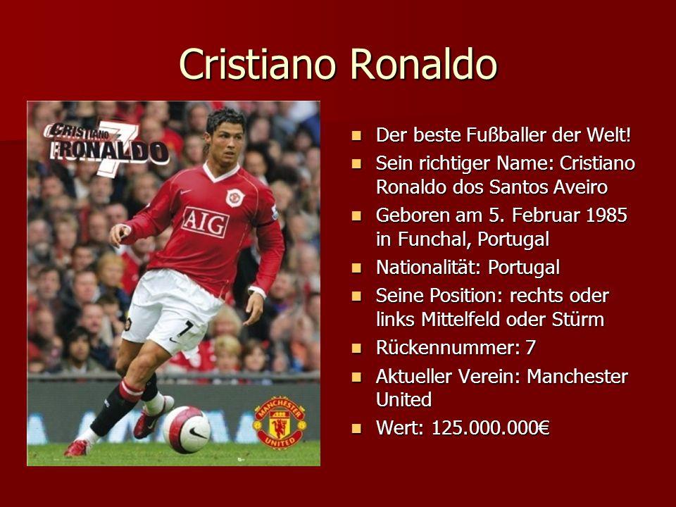 Cristiano Ronaldo Der beste Fußballer der Welt!