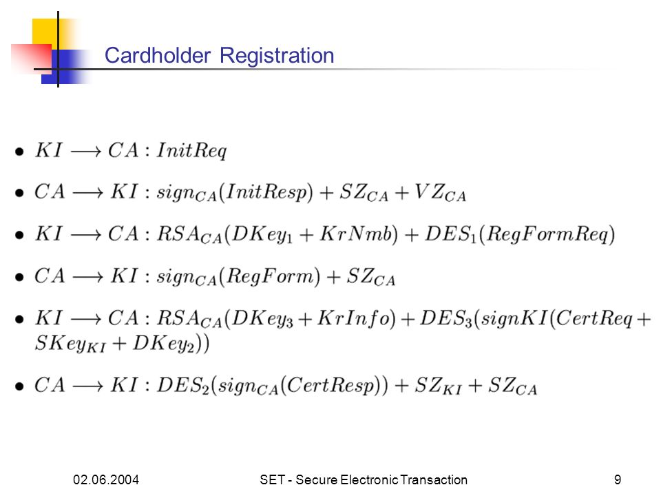 Cardholder Registration