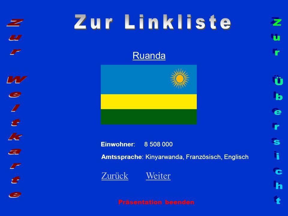 Zur Linkliste Zur Weltkarte Zur Übersicht Ruanda Zurück Weiter