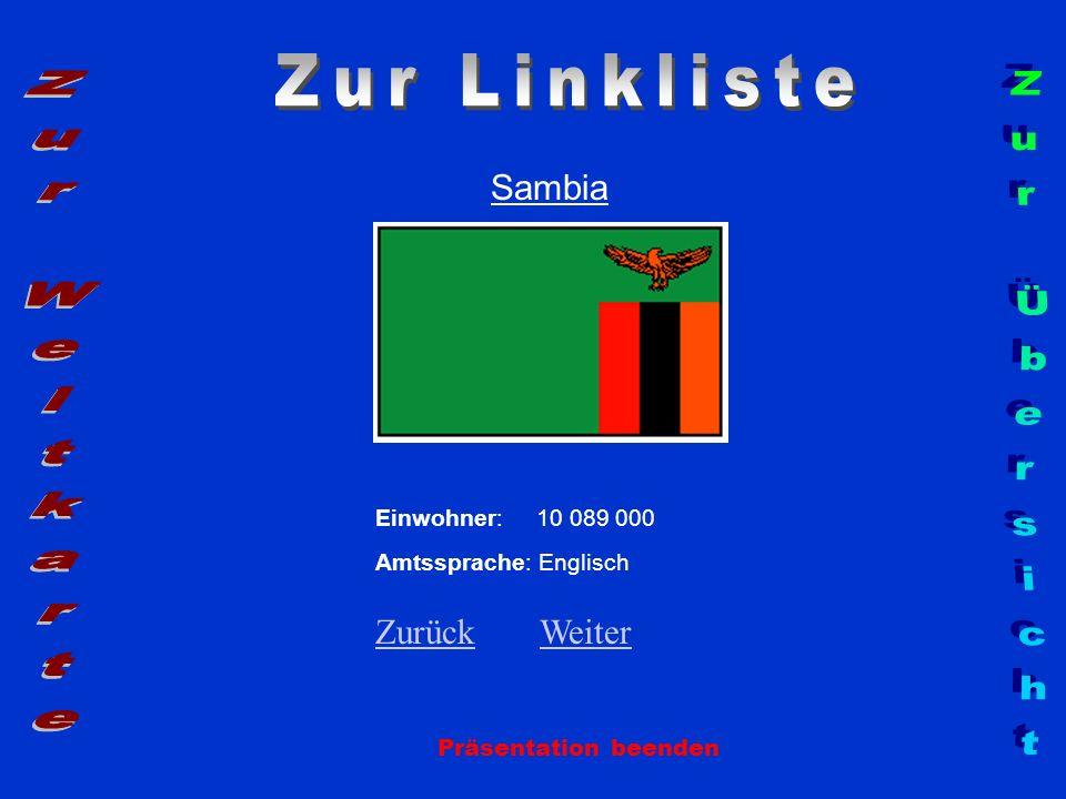 Zur Linkliste Zur Weltkarte Zur Übersicht Sambia Zurück Weiter