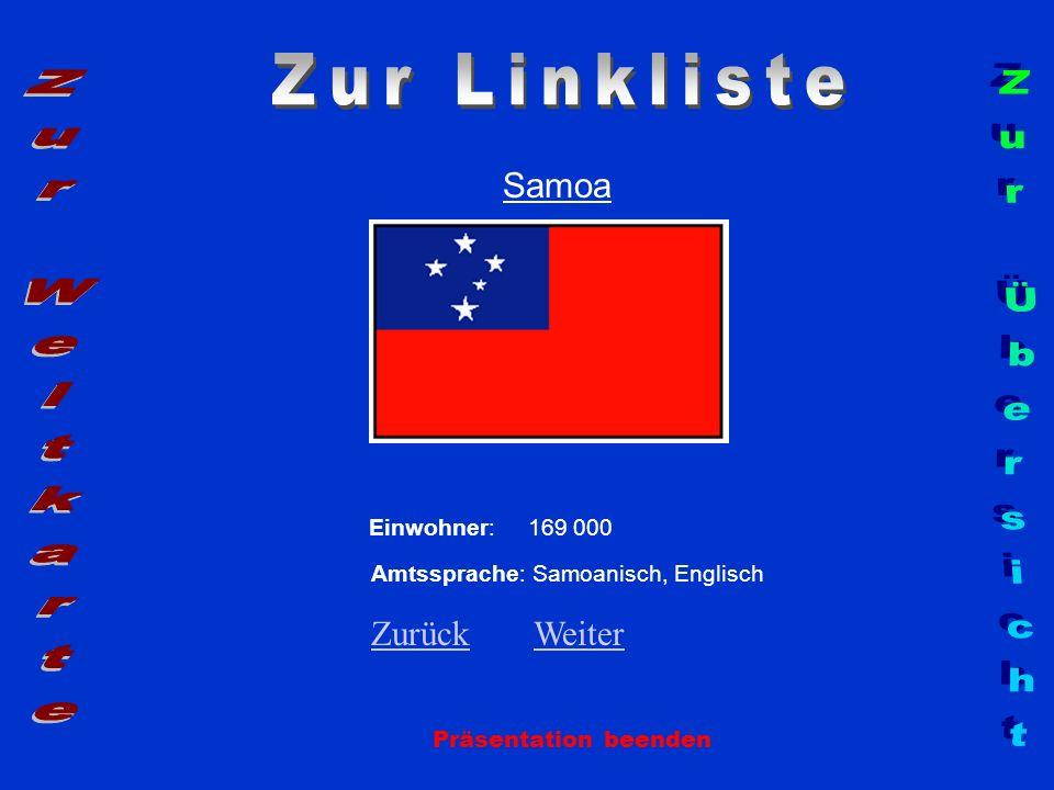 Zur Linkliste Zur Weltkarte Zur Übersicht Samoa Zurück Weiter