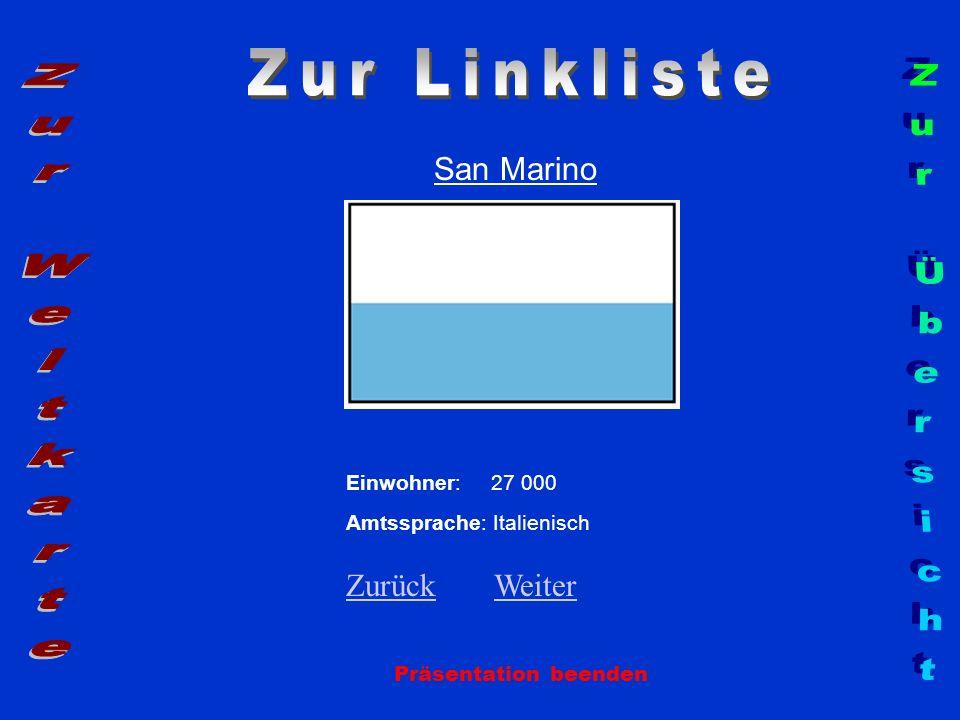 Zur Linkliste Zur Weltkarte Zur Übersicht San Marino Zurück Weiter