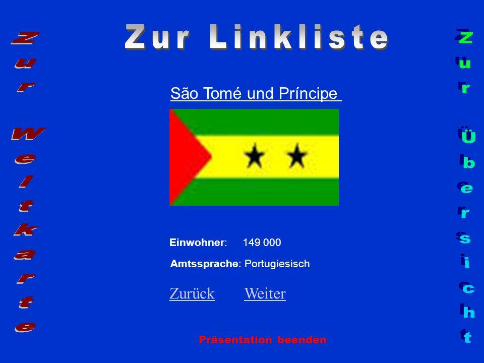 Zur Linkliste Zur Weltkarte Zur Übersicht São Tomé und Príncipe