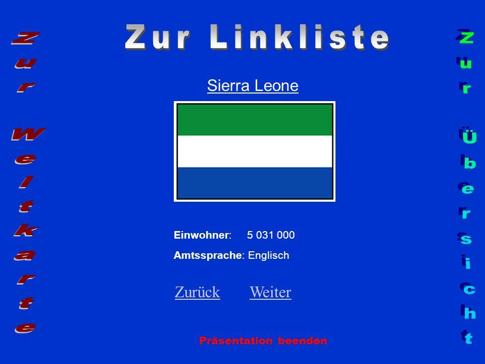 Zur Linkliste Zur Weltkarte Zur Übersicht Sierra Leone Zurück Weiter