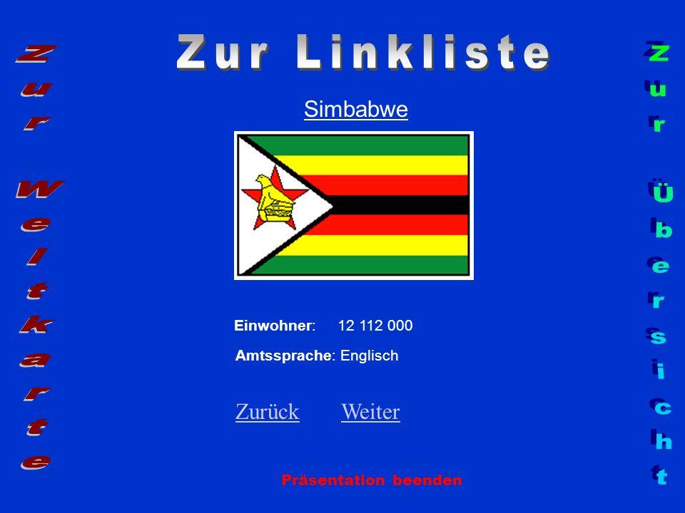 Zur Linkliste Zur Weltkarte Zur Übersicht Simbabwe Zurück Weiter