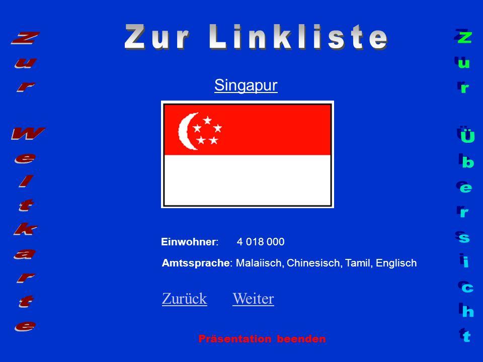 Zur Linkliste Zur Weltkarte Zur Übersicht Singapur Zurück Weiter