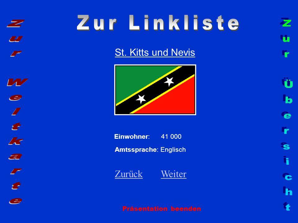 Zur Linkliste Zur Weltkarte Zur Übersicht St. Kitts und Nevis