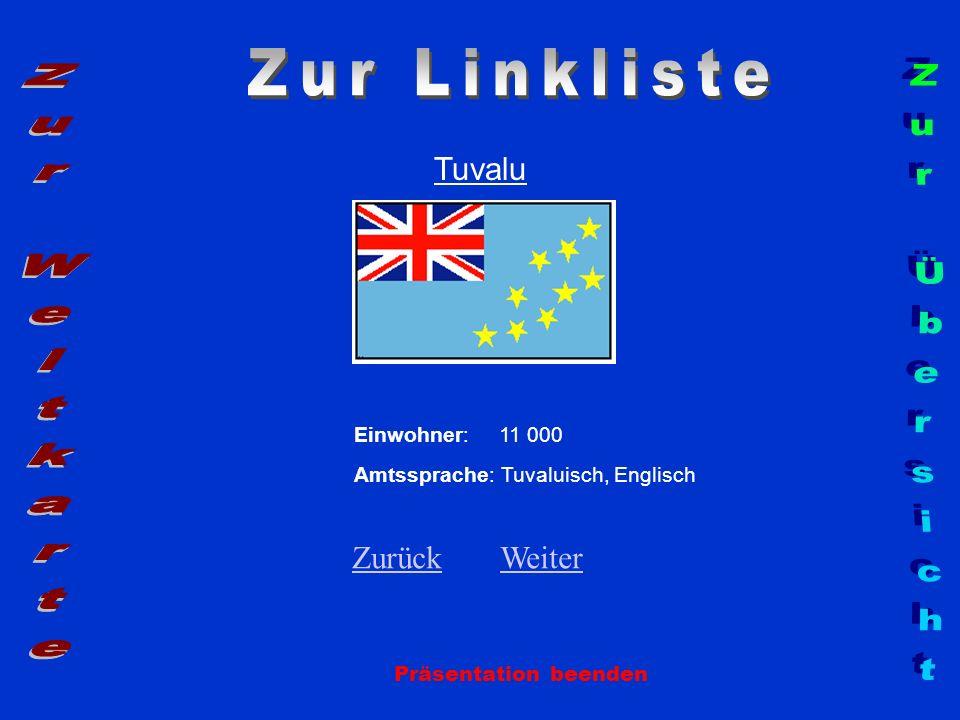 Zur Linkliste Zur Weltkarte Zur Übersicht Tuvalu Zurück Weiter