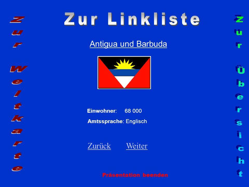 Zur Linkliste Zur Weltkarte Zur Übersicht Antigua und Barbuda