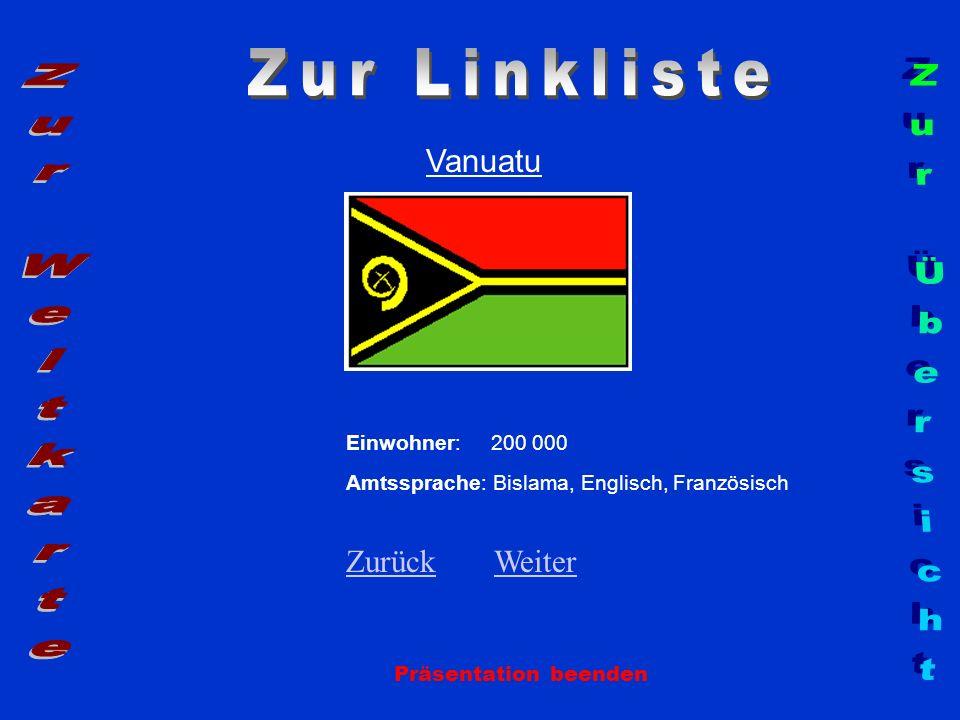 Zur Linkliste Zur Weltkarte Zur Übersicht Vanuatu Zurück Weiter