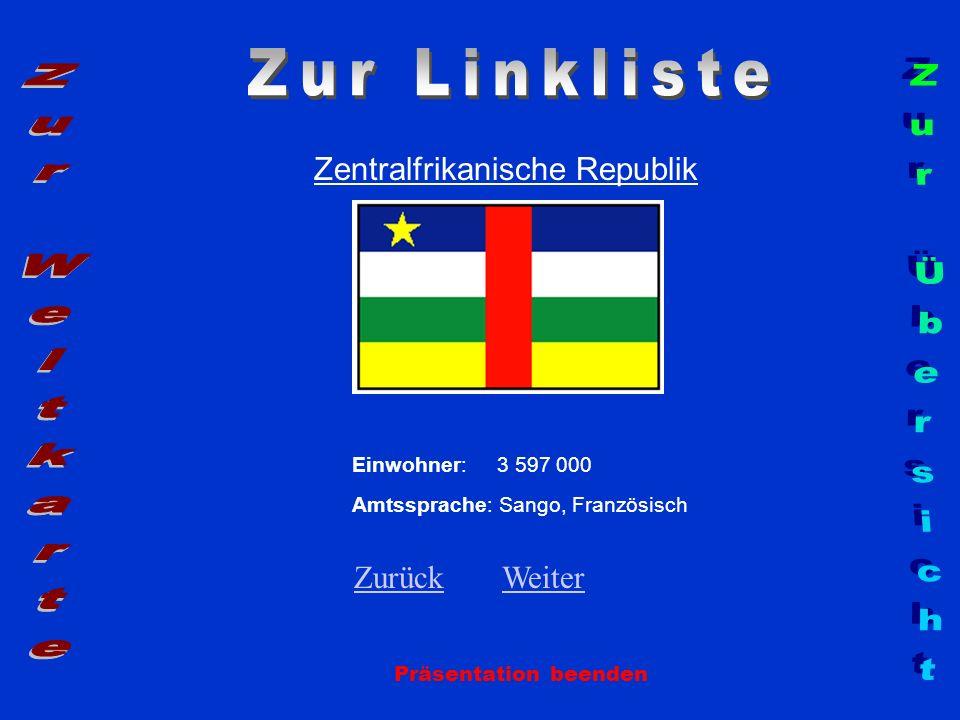 Zur Linkliste Zur Weltkarte Zur Übersicht Zentralfrikanische Republik