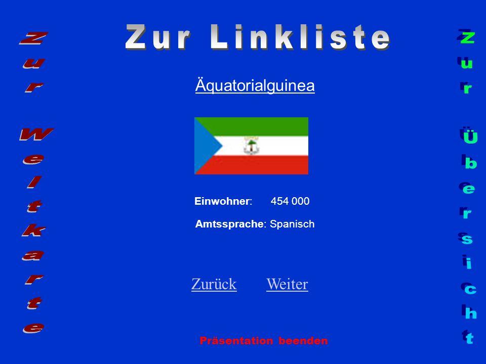 Zur Linkliste Zur Weltkarte Zur Übersicht Äquatorialguinea