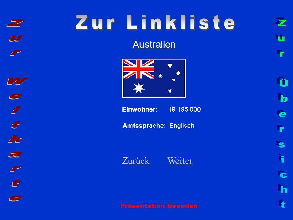 Zur Linkliste Zur Weltkarte Zur Übersicht Australien Zurück Weiter