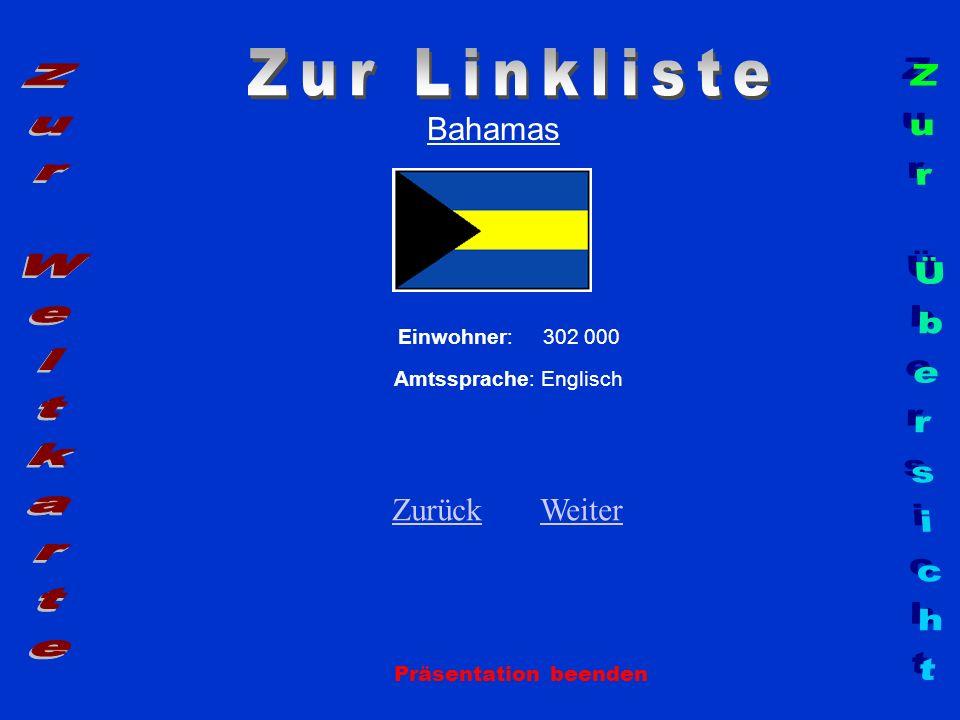 Zur Linkliste Zur Weltkarte Zur Übersicht Bahamas Zurück Weiter