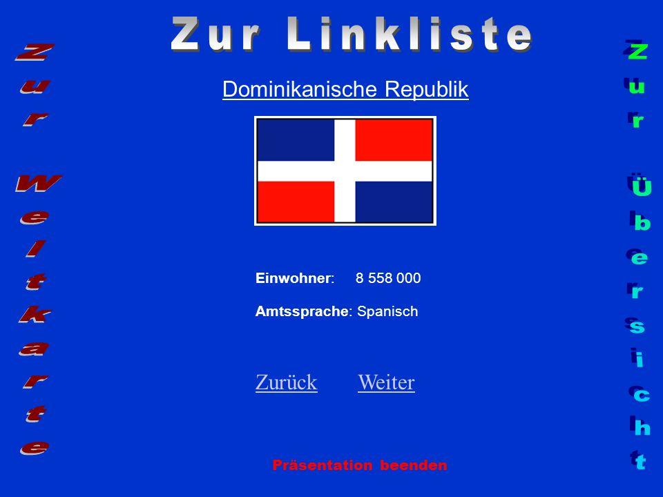 Zur Linkliste Zur Weltkarte Zur Übersicht Dominikanische Republik