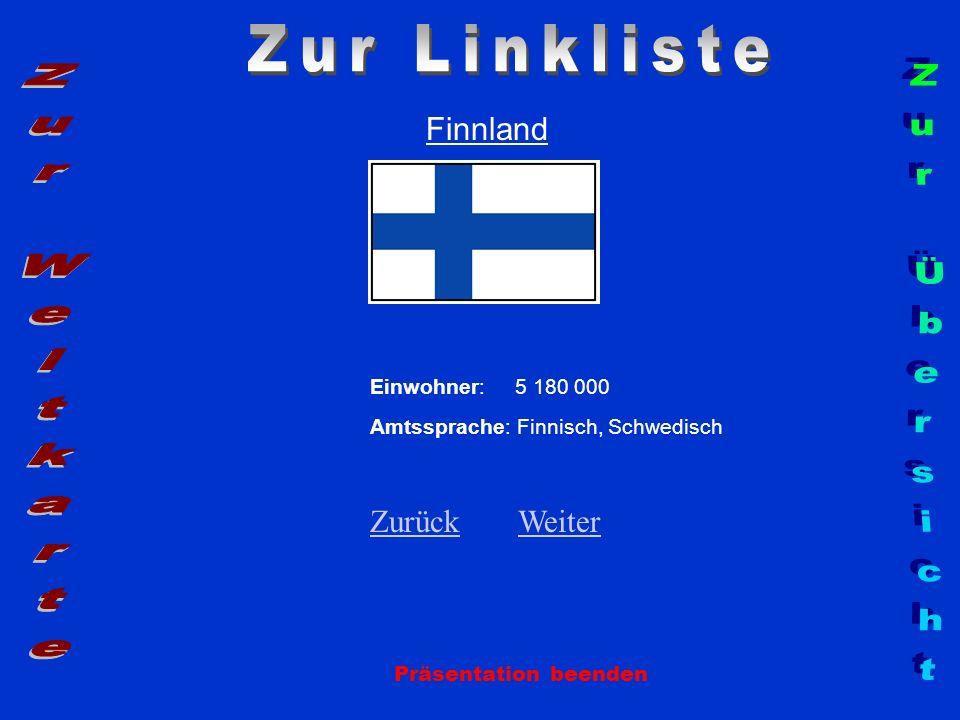 Zur Linkliste Zur Weltkarte Zur Übersicht Finnland Zurück Weiter