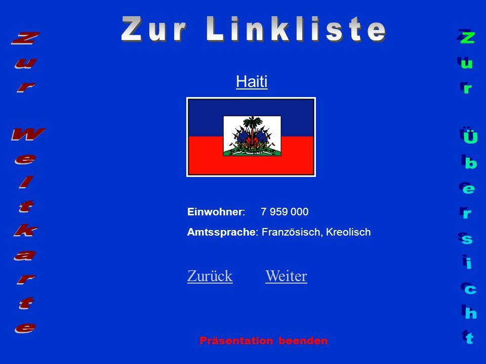 Zur Linkliste Zur Weltkarte Zur Übersicht Haiti Zurück Weiter