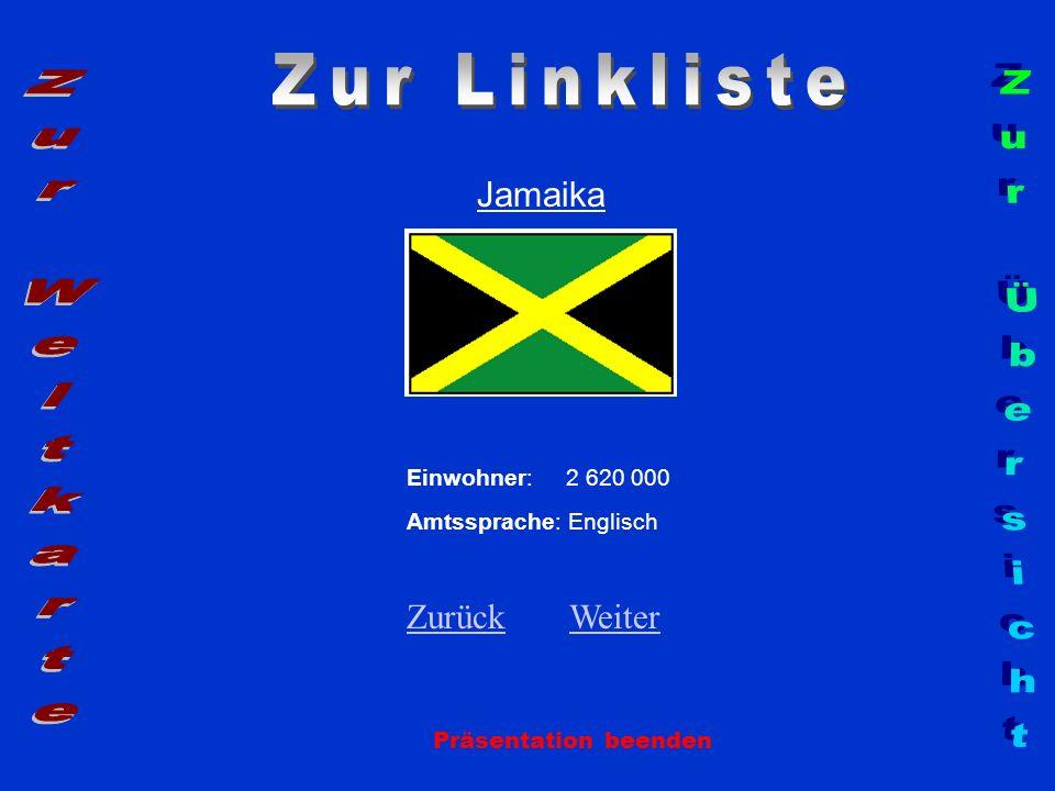 Zur Linkliste Zur Weltkarte Zur Übersicht Jamaika Zurück Weiter