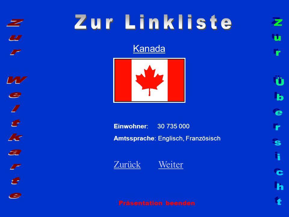 Zur Linkliste Zur Weltkarte Zur Übersicht Kanada Zurück Weiter