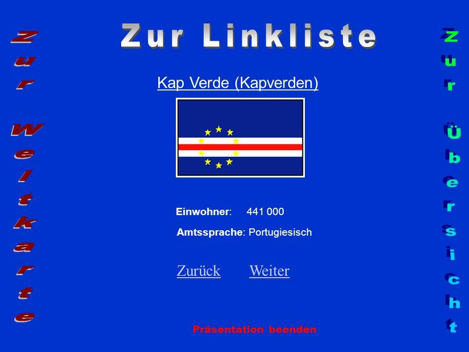 Zur Linkliste Zur Weltkarte Zur Übersicht Kap Verde (Kapverden)