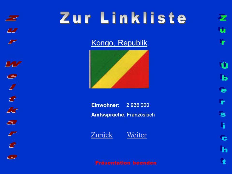 Zur Linkliste Zur Weltkarte Zur Übersicht Kongo, Republik